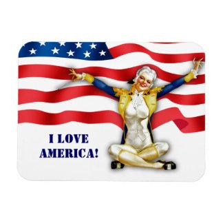 Ik houd van Amerika. Magneet van de Gift van de