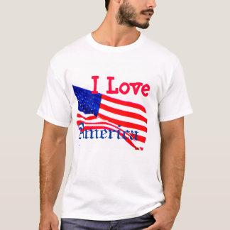 Ik houd van Amerika - Patriottische Witte T-shirt