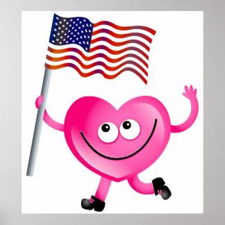 Ik houd van Amerika Poster