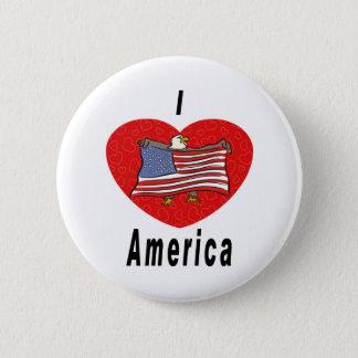 Ik houd van Amerika Ronde Button 5,7 Cm