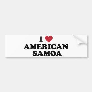 Ik houd van Amerikaans Samoa Bumpersticker