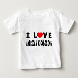Ik houd van Amerikaanse kickboxing Vechtsporten Baby T Shirts