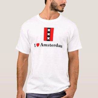 Ik houd van Amsterdam (met inbegrip van het logo T Shirt