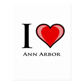 Ik houd van Ann Arbor Briefkaart