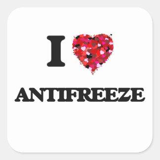 Ik houd van Antivriesmiddel Vierkante Sticker