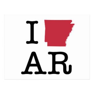 Ik houd van Arkansas Briefkaart