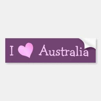 Ik houd van Australië Bumpersticker