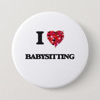 Ik houd van Baby-sitting Ronde Button 7,6 Cm