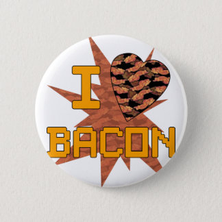 Ik houd van Bacon Ronde Button 5,7 Cm