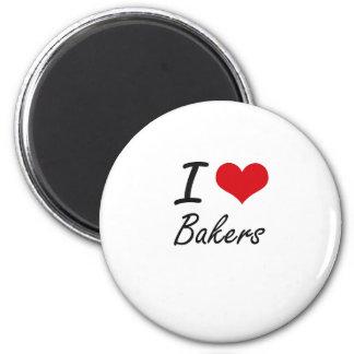 Ik houd van Bakkers Ronde Magneet 5,7 Cm