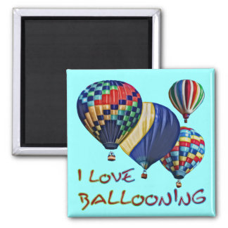 Ik houd van Ballooning Vierkante Magneet