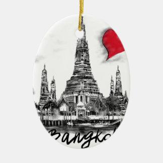 Ik houd van Bangkok Keramisch Ovaal Ornament