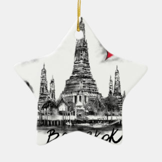 Ik houd van Bangkok Keramisch Ster Ornament