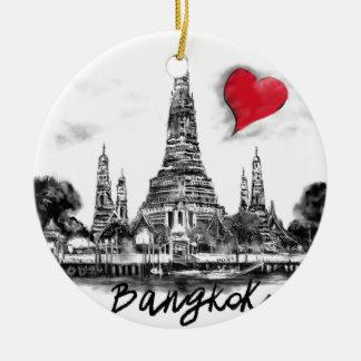 Ik houd van Bangkok Rond Keramisch Ornament