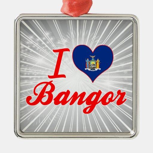 Ik houd van Bangor, New York Kerstboom Ornament