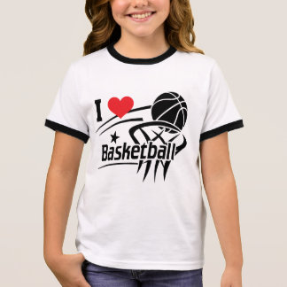 Ik houd van basketbal t shirts