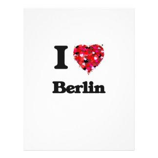Ik houd van Berlijn Duitsland Flyer 21,6 X 27,9 Cm