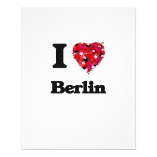 Ik houd van Berlijn Duitsland Flyer 11,4 X 14,2 Cm