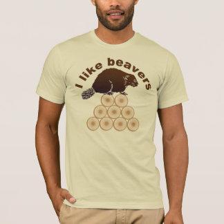 Ik houd van bevers t shirt