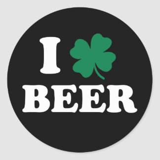 Ik houd van Bier Ronde Stickers