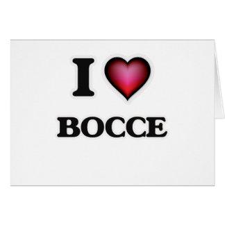 Ik houd van Bocce Wenskaart