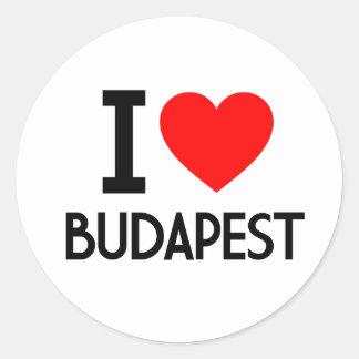 Ik houd van Boedapest Ronde Sticker