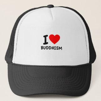 Ik houd van Boeddhisme Trucker Pet