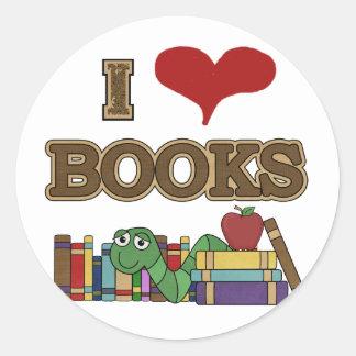 Ik houd van Boeken Ronde Sticker