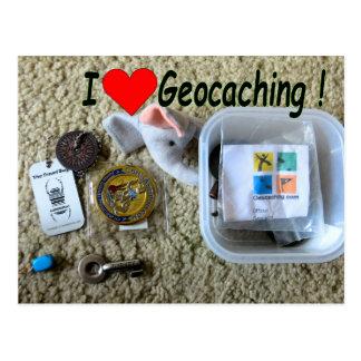 Ik houd van briefkaart Geocaching: Open Geheim