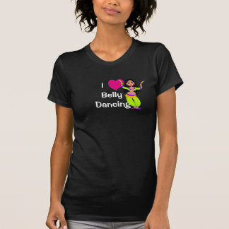 Ik houd van Buikdansen - hart, cartoondanser T Shirt