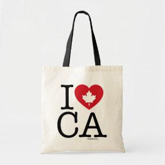 Ik houd van CA   Gepersonaliseerd Canvas tas van
