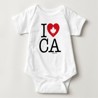 Ik houd van CA   Liefde Gepersonaliseerd Canada Romper