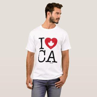 Ik houd van CA   T-shirt van het Mannen van de