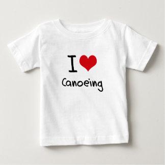 Ik houd van Canoeing Baby T Shirts
