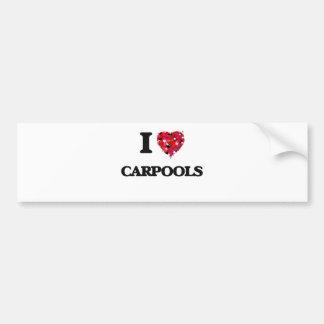 Ik houd van Carpools Bumpersticker