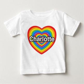 Ik houd van Charlotte. Ik houd van u Charlotte. Baby T Shirts