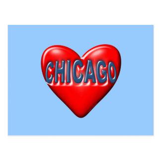 Ik houd van Chicago Briefkaart
