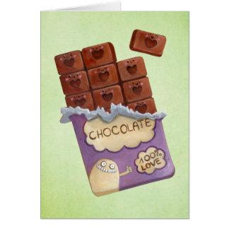Ik houd van Chocolade Briefkaarten 0