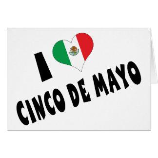 Ik houd van Cinco DE Mayo Wenskaart