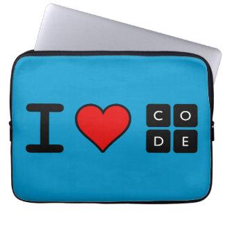 Ik houd van Code Computer Hoes