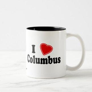 Ik houd van Columbus Tweekleurige Koffiemok