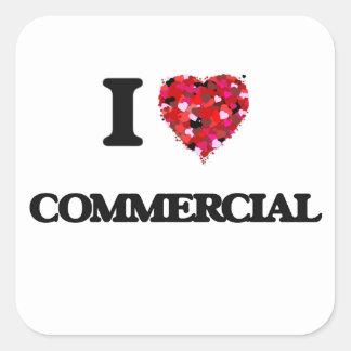 Ik houd van Commercieel Vierkante Sticker