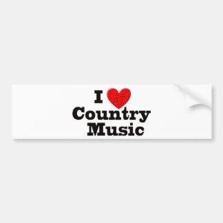 Ik houd van Country muziek Bumpersticker