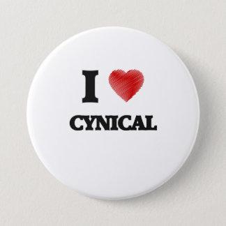 Ik houd van Cynisch Ronde Button 7,6 Cm