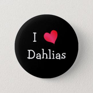 Ik houd van Dahlia's Ronde Button 5,7 Cm