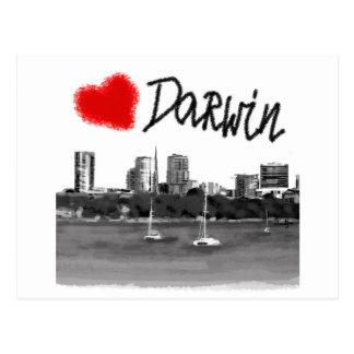 ik houd van Darwin Briefkaart