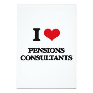 Ik houd van de Adviseurs van Pensioenen 8,9x12,7 Uitnodiging Kaart