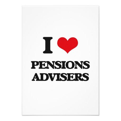 Ik houd van de Adviseurs van Pensioenen Persoonlijke Aankondigingen