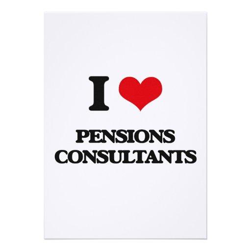 Ik houd van de Adviseurs van Pensioenen Gepersonaliseerde Uitnodigingen