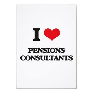 Ik houd van de Adviseurs van Pensioenen 12,7x17,8 Uitnodiging Kaart